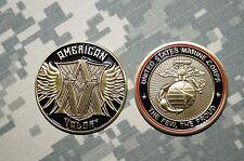 Challenge Coin NEW United States Marine Corps American Valor Semper Fi