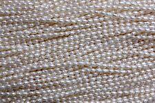 2mm-3mm Oval Zuchtperlen Strang Süßwasser Perlen Schmuck Kette Halskette