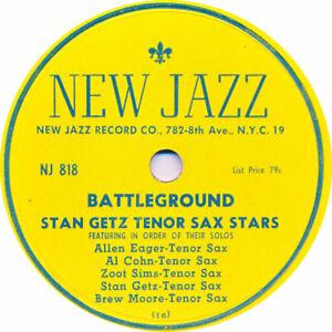 78 RPM - Stan Getz Tenor Sax Stars - Battleground / Prezervation - 1949