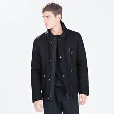 Men's Wool Collared Fleece Coats & Jackets