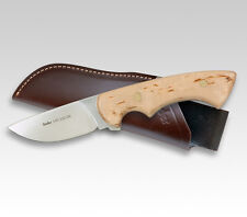 "LINDER GERMAN 440A KARELIA HUNTER KNIFE / BIRCH WOOD / 3.82"" BLADE * NEW *"