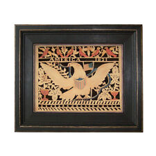 Scherensnitte Paper Cutting Antique Vintage Style Eagle Folk Art Framed Eagle