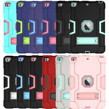 For Apple iPad Mini 1 2 3 4 5 Shockproof Rugged Stand Case Hybrid Silicone Cover