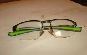 Eye Glasses old new made in Italy Nike eyeglass with case green and gray @10