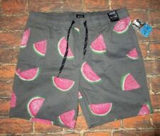 e45ae7f2c4 MENS VALOR COLLECTIVE WATERMELON DRAWSTRING GRAY CHARCOAL SWIM BOARD SHORTS  M