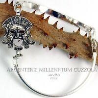Bracciale Maschera Argento Apotropaica Magna Grecia Crotone Kroton Silver Mask