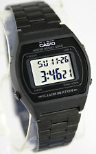 Casio B-640WB-1A Unisex Black Watch Digital Stainless Steel Band Flash Alert New