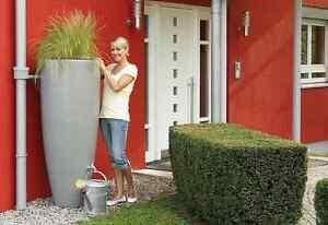 Elegant modern rainwater harvesting butt planter including choice of diverter
