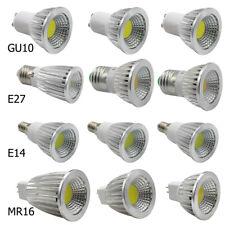 GU10 E27 E14 6W 9W 12W LED COB Spotlight Bombilla Luces De Alta Potencia Blanco Cálido Frío