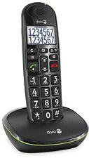 Doro PhoneEasy 110 Schwarz Festnetz-Telefon  Senioren, Tasten mit Sprachansage