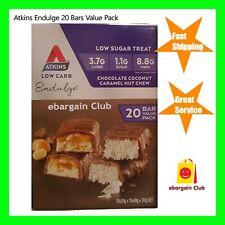 Atkins Endulge 20 Bars Value Pack Chocolate Coconut Caramel Nut Chew EBC