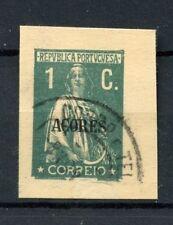 Açores début 1c papeterie ajourées utilisé #A 4876