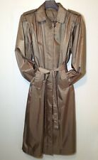 Vintage Women's Lined Trench Coat Long Rain Jacket Rubber Inner Sz M  9-10