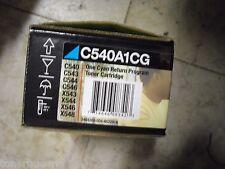 New ! Genuine Lexmark C540 C543 C544 C546 X543 X546 X548 Cyan Toner C540A1CG