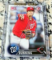 DANE DUNNING 2016 Bowman #1 Draft Pick 1st TRUE Rookie Card RC Rangers HOT $$$
