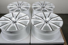 18 5x112 White Rims Fits Mercedes Benz  C E Class Volkswagen Passat Jetta Wheels