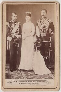 Royal CDV-Alexandra, Princess of Wales with Princes Albert Victor and George