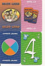 """GIOCHI DA TAVOLO  CARTE DA  """"UNO"""" LE """"BRIO CARD"""" CON SCATOLA VERSIONE ITALIA"""