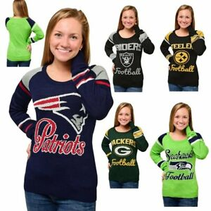 Official NFL For Her Glitter Sweater by Forever Collectibles 492206-J