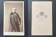 Mulnier, Paris, Prêtre en soutane, circa 1865 vintage cdv albumen print,  CDV,