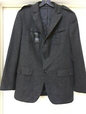 Banana Republic Charcoal Gray Wool Blend Blazer With Epaulets , Men's 42R New