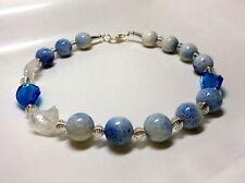 Koralle Schaumkoralle Unikat Collier Kette Halskette Summer Sky Weiß Blau