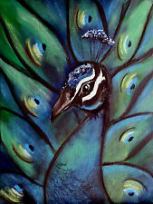 contememporay abstract original Peacock art painting