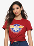 Captain marvel cosplay T-shirt hot topic Plus Size S M 1x 2x