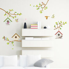 Decowall Bird Branch Birdcage Nursery Kids Removable Wall Stickers Decal DW-1304