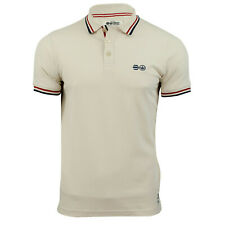 Mens Polo TShirt Crosshatch Small S Pinback Collared Cotton Short Sleeve Casual