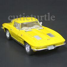Kinsmart 1963 Chevrolet Corvette Stingray 1:38 Diecast Toy Car Yellow