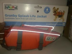 Outward Hound DOG LIFE JACKET Saver Preserver Safety Vest ORANGE XS Puppy EUC