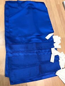 24 x Square Pocket Scarves/ Fabric BRAND NEW Royal Blue Plain/ Subtle Patterns