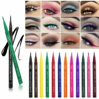 Qibest Matte Eyeliner Pencil Waterproof Lasting Liquid Eyeliner Pen 12 Colors