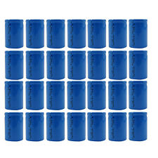 28 PC 4/5 Sub C 1600mAh 1.2V Ni-Cd Wiederaufladbare Batterie Zelle Flat-Top blau