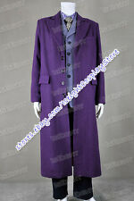 Batman: The Dark Knight Joker Cosplay Costume Purple Coat Suit Party Uniform New
