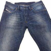 Diesel LARKEE Mens Jeans W33 L28 Dark Blue Regular Fit Straight Mid Rise