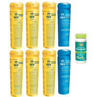 8 Pack Spa Frog Replacement Cartridges- 6 Bromine/ 2 Mineral W/ Frog Test Strips