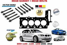 FOR BMW 116D 118D 120D N47D20C 2006-2012 CYLINDER HEAD GASKET + 10 HEAD BOLT SET