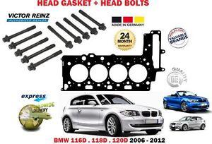 Pour BMW 116D 118D 120D N47D20C 2006-2012 Joint de Culasse + 10 Tête Boulon Set