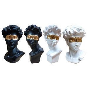 David Head Portraits Bust Resin Statue Sculpture Home Artist Art Decoration