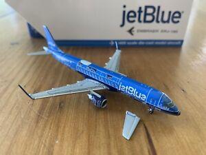"1:400 Geminijets JetBlue ""Blueprint"" Embraer 190 BROKEN HORIZONTAL STABILIZER"
