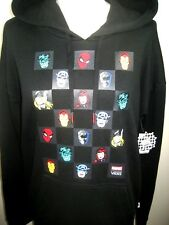 Vans x Marvel Avengers Womens Check Pullover Hoodie Sweatshirt Black Free Ship