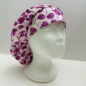surgical cap, bouffant style  - BLOOM TOSS in PURPLE
