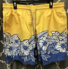 Vilebrequin Men 3XL Swim Shorts Swim Trunks Yellow Daffodil Moorea French