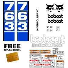 Bobcat 763 v1 Skid Steer Set Vinyl Decal Sticker bob cat MADE IN USA + FREE TOOL