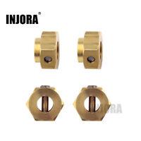 Heavy Brass 12mm Hex Wheel Hubs for 1/10 RC Crawler Traxxas TRX-4 TRX4 5-10mm