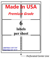 1200 Wing Office Premium Shipping Labels 333 X 4 Self Adhesive 85x11 Fba Usa