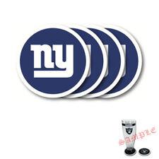 Brand New 4pcs Set NFL New York Giants Heavy Duty Rubber Vinyl Coasters