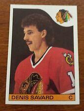 1985-86 Topps Chicago Black Hawks Denis Savard Card 73